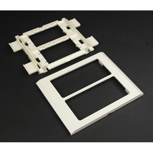 """Wiremold G4050 6 x 4-3/4 x 7/16"""" Gray Steel Multiple Channel Raceway 2-Gang Cover Device Mounting Bracket"""