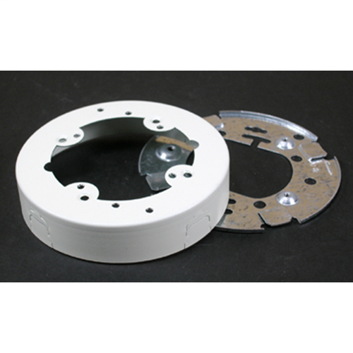 Wiremold V5737 Ivory 4-3/4 Inch Round Open Base Extension Box For 500 & 700 Series Surface Mount Raceway Steel