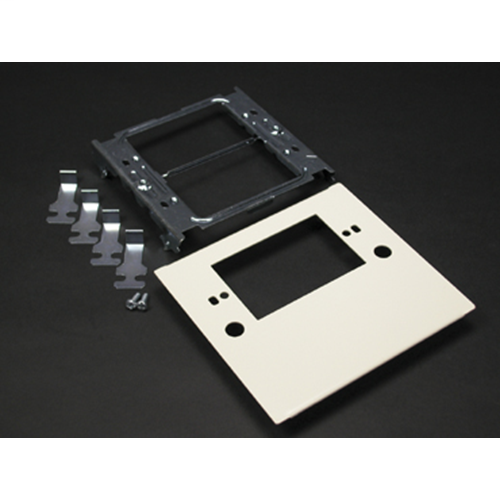 Wiremold V4047C-1 4-3/4 x 5-1/8 Inch Ivory Steel Multiple Channel Raceway 1-Gang Device Plate
