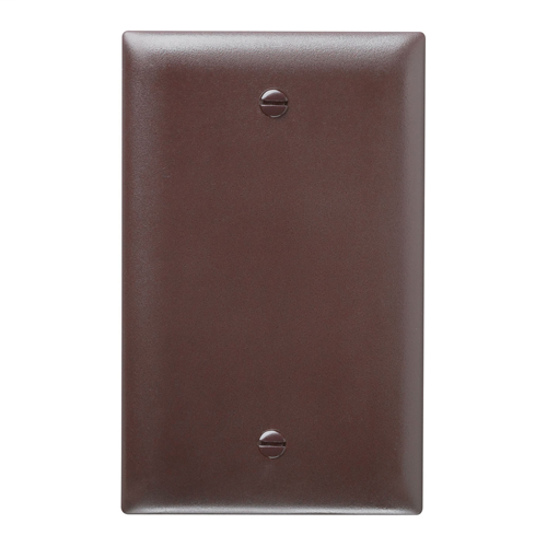 Legrand TP13 Trademaster Wall Plate 1Gang 1 Blank Box Mount, Brown