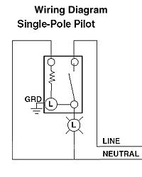 leviton 1201 plr sm sp switch pilot light wiring diagram