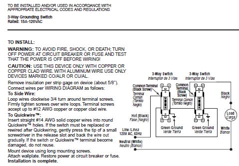 leviton 1453 2i 15amp 120v 3way residential grade switch w. Black Bedroom Furniture Sets. Home Design Ideas
