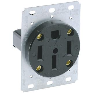 leviton 279 50amp 125 250v 3p4w nema 14 50r flush mount receptacle