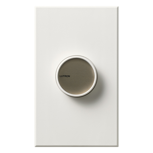 Lutron Electronics C-600P-WH 600 W 120 Volt White 1-Pole Incandescent/Halogen Rotary Dimmer with Push/Rotary Knob