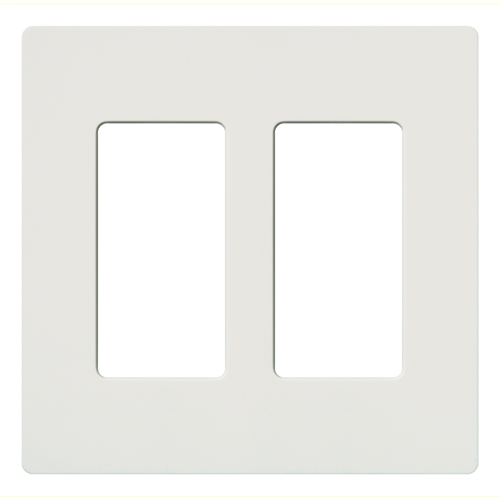 LUT CW-2-WH 2 GANG WALL PLATE WHITE