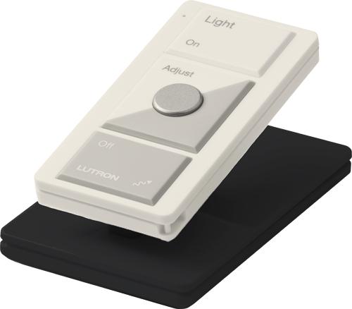 Pico Wireless Controls Pedestal Base, Single pedestal, White finish, in black