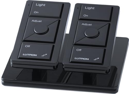 Pico Wireless Controls Pedestal Base, Double pedestal, White finish, in black