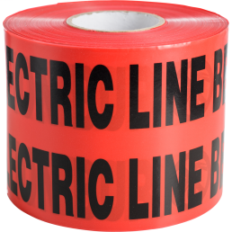 Minerallac 94615 6 Inch x 1000 Foot Red Caution Buried Electric Line Underground Tape