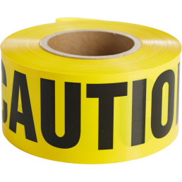 Minerallac 94625 3 Inch x 1000 Foot Yellow Caution Tape