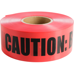 """CULLY 94605 Red """"Buried ElectricalLine"""" Tape, 3"""" x 1000'"""