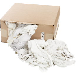 Minerallac 37587 25 lb Box Recycled White Tee Shirt