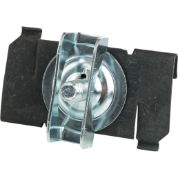 """Twist On T-Bar Hanger, Fits 1"""" T-Bar, 1/4""""-20 x 5/8"""" Stud with Wing Nut Washer, Spring Steel"""
