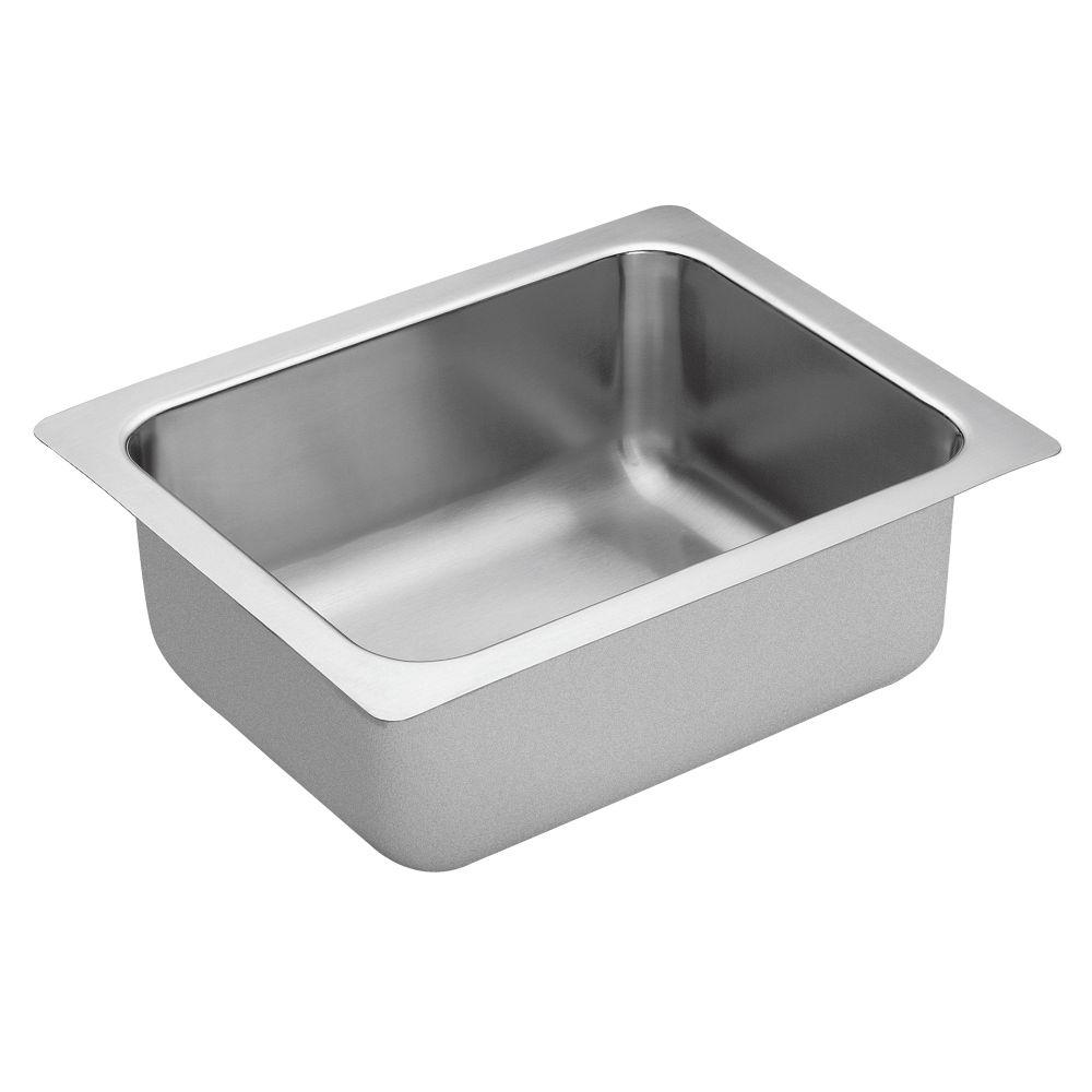 """1800 Series 16""""x20"""" stainless steel 18 gauge single bowl sink"""