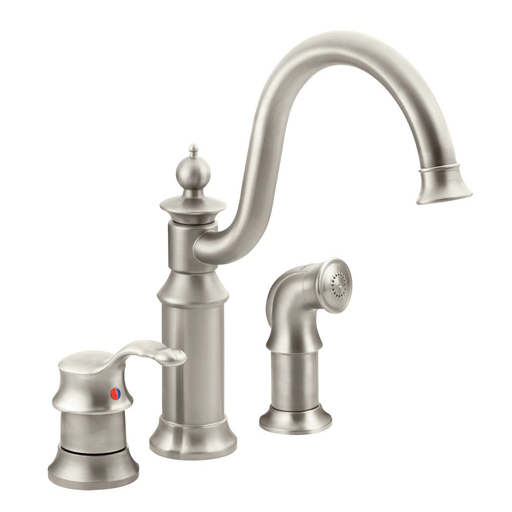 Waterhill Spot resist stainless one-handle high arc kitchen faucet