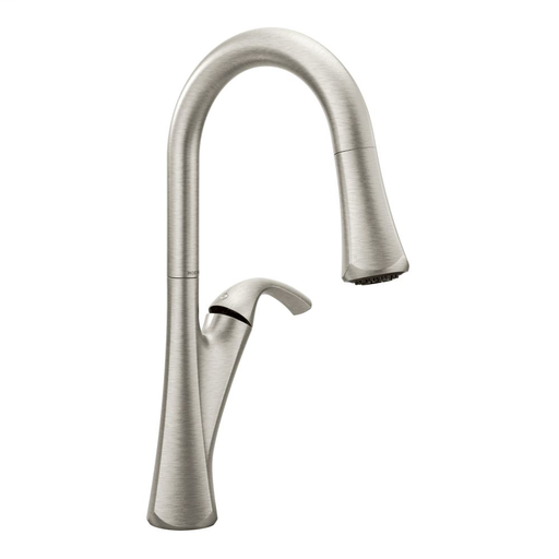 Notch Spot resist stainless one-handle high arc pulldown kitchen faucet