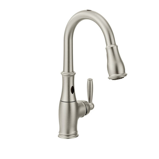 Brantford Spot Resist Stainless One-Handle High Arc MotionSense Pulldown Kitchen Faucet