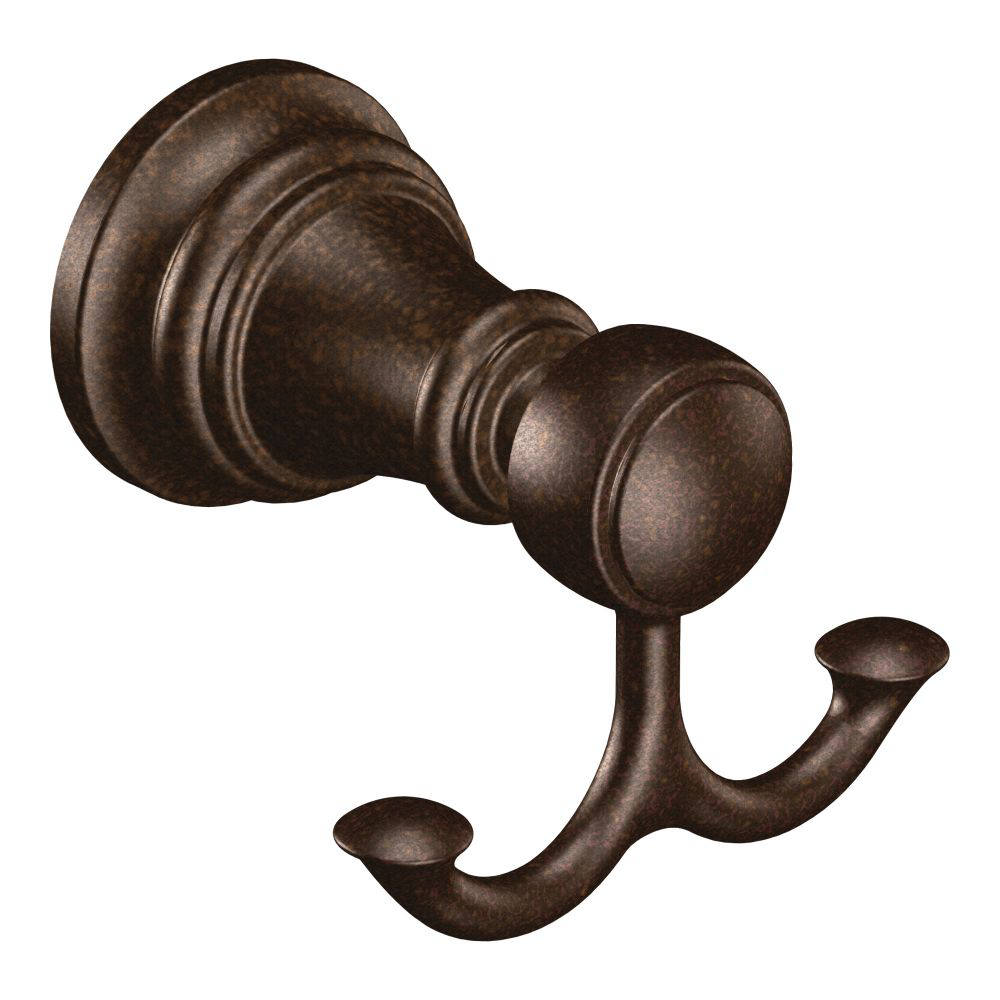 Weymouth Oil rubbed bronze double robe hook