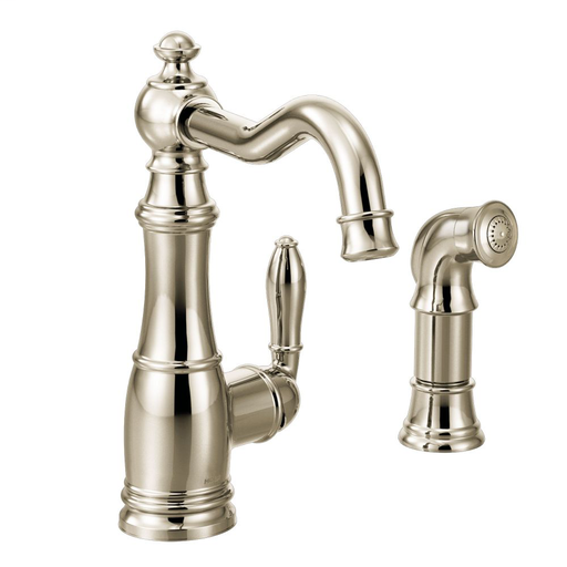 Weymouth Polished nickel one-handle high arc kitchen faucet