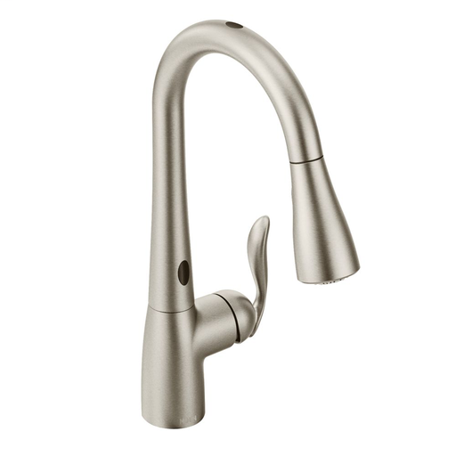 Arbor Spot Resist Stainless One-Handle High Arc MotionSense Pulldown Kitchen Faucet