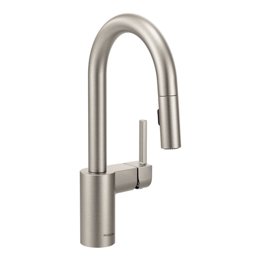 Align Spot resist stainless one-handle high arc pulldown bar faucet