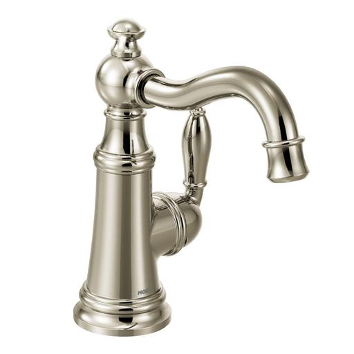 Weymouth Polished nickel one-handle high arc bar faucet