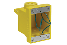 "Woodhead FD Yellow Glass-Filled Polyester Box, Corrosion -resistant (2) 25.40mm (1.000"") Threaded Knock-out Openings"