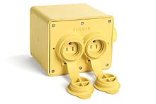 Watertite Heavy-Duty Multiple Outlet Box, (4) NEMA 5-15 Single with Flip Lids, Box only