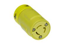 Woodhead 2547 2-Pole 3-Wire 15 Amp 125 Volt NEMA L5-15R Yellow Locking Connector