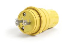 Watertite Extreme Plug, 2 Pole/2 Wire, NEMA L2-20, 250V, Cord Grip Body Size F2, Silicone Husk
