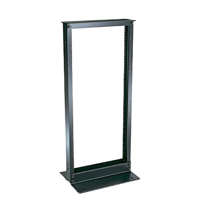 """19"""" EIA rack, aluminum. Dimensions: 84.0""""H x 20.3""""W x 3.0""""D (2134mm x 514mm x 76mm)."""