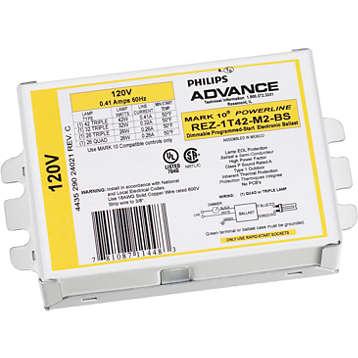 MARK 10 POWERLINE ELE DIM BAL (1) 42W CFL (4-PIN) 120V KIT