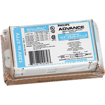 Mayer-ADV ICF2S42M2LDK (ADVANCE) BALLAST 1or2 42W 120/277V PROGRAM START (2) 26w, 32W or 42W, 4-pin (GX24q) CFL. Or (1) 57w or 70w 4-pin (GX24q) CFL. Or (2) 24w 4-pin (2G11) or (1 or 2) 40w 4-pin (2G11) CFL.-1