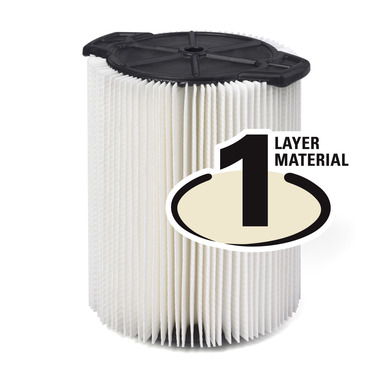 RIDGE TOOL Everyday Dirt 1-Layer Pleated Paper Filter