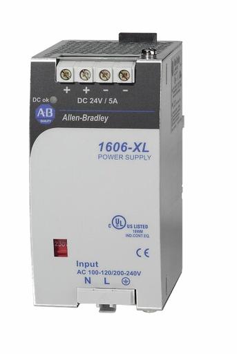 A-B 1606-XL120D 5AMP 120WATT 115/230 VOLT POWER SUPPLY DIN RAIL MOUNT