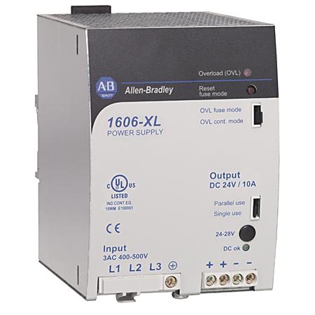 A-B 1606-XL240E-3 240W 24VDC PWR SPLY 480VAC INPUT