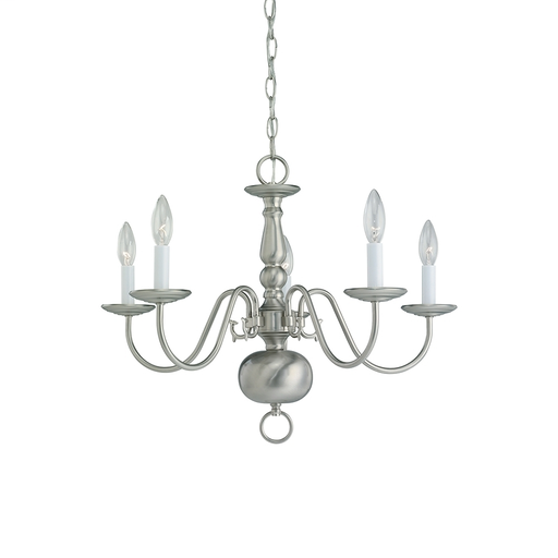 SEG 3410-962 5L CHANDELIER BRUSHED NICKEL