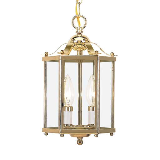 SEG 5232-02 HALL / FOYER TWO LIGHT POLISHE