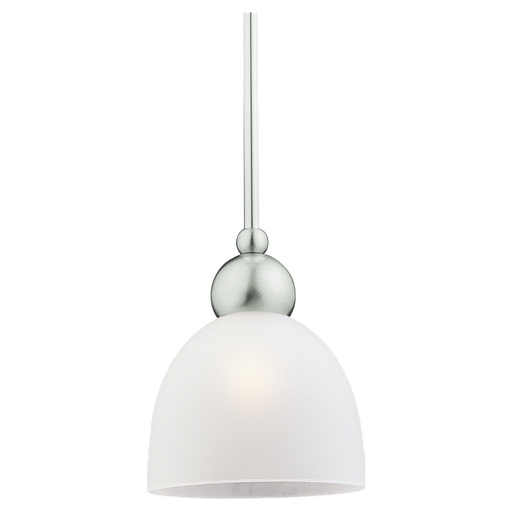 SEG 69034BLE-962 1L FLUORESCENT MINI PENDANT FIXTURE IN BRUSHED NICKEL