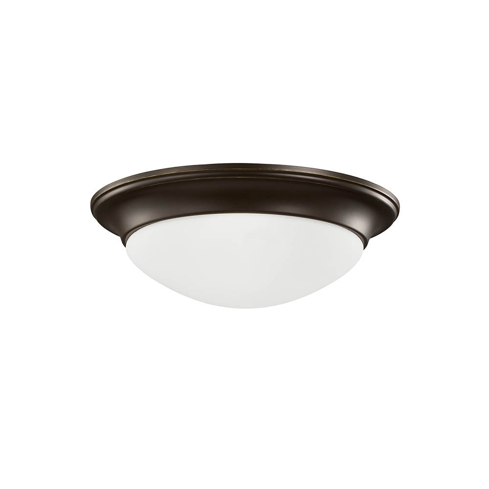 SEA 75435-782 60W 120V MEDIUM A HEIRLOOM BRONZE TWO LIGHT FLUSH MOUNT CEILING FIXTURE