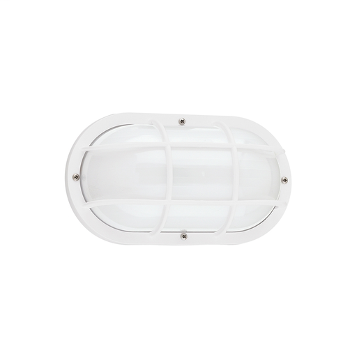 SEG 89806BLE-15 1 LIGHT FLUORESCENT OUTDOOR BULKHEAD WALL FIXTURE WHITE FINISH W/FROSTED DIFFUSER