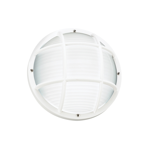 SEG 89807BLE-15 ONE LIGHT FLUORESCENT OUTDOOR BULKHEAD WALL/CEILING FIXTURE IN WHITE FINISH W/FROSTED DIFFUSER