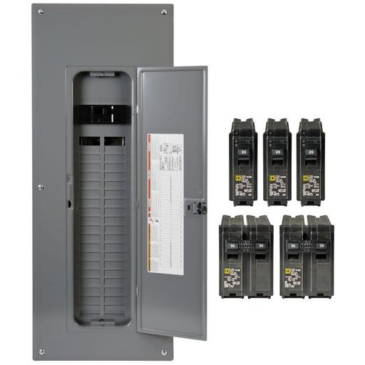 SQD HOM4080M200PCVP HOM VALPK INDR 200A MB 40/80CIR Includes 3-HOM120, 2-HOM230