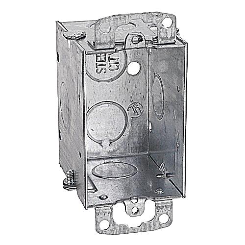 Steel City CDOW 3 x 2 x 2-1/2 Inch Switch Box with Gangable Ears
