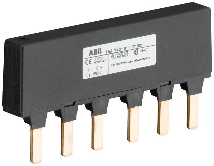 ABB PS4-2-0 MS450 BUSBAR 2XMS W/O A