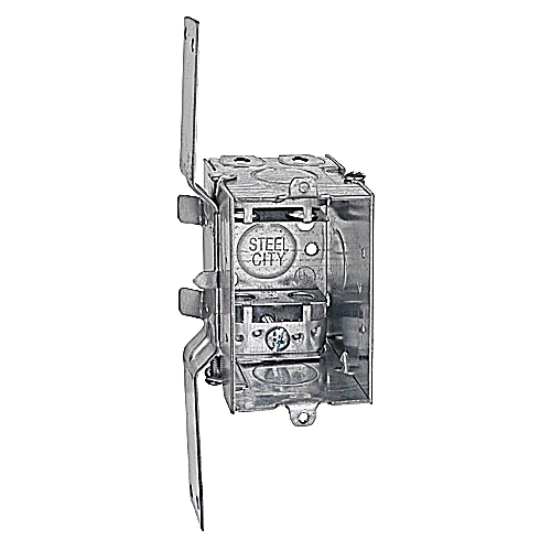 Steel City LXV-25 3 x 2 x 2-1/2 Inch Dimensions 12.5 In Gangable Steel Switch Box with Bracket and Clip