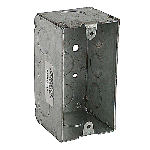 Steel City 104-W-1/2 4 x 2-1/8 Inch 15.6 In 1-Gang Steel Welded with 1/2 Inch KO''s Utility Device Box