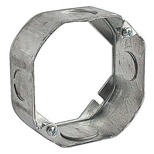 Steel City 55151-1/2-3/4 4 x 1-1/2 Inch Steel Octagon Box Extension Ring with 1/2 and 3/4 Inch Knockouts