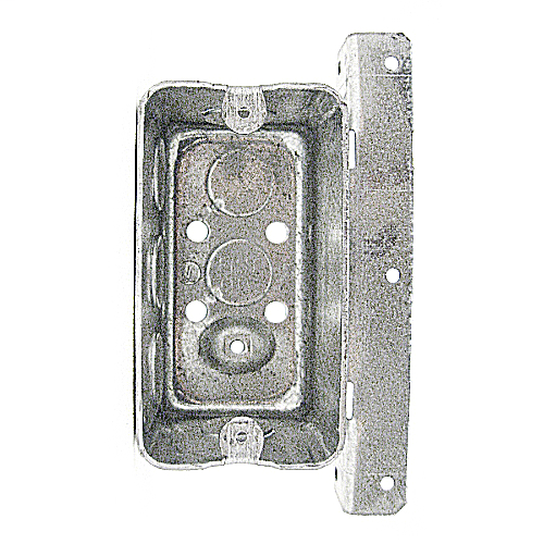 Steel City 58371-T-1/2 4 x 2-1/8 Inch Dimensions 14.5cu.in Steel Utility Box with 1/2 Inch Knockouts