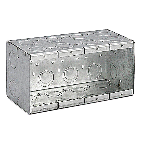 Steel City,4-MB,MASONRY BOX 3-1/2 INCH DEEP, 4 GANG