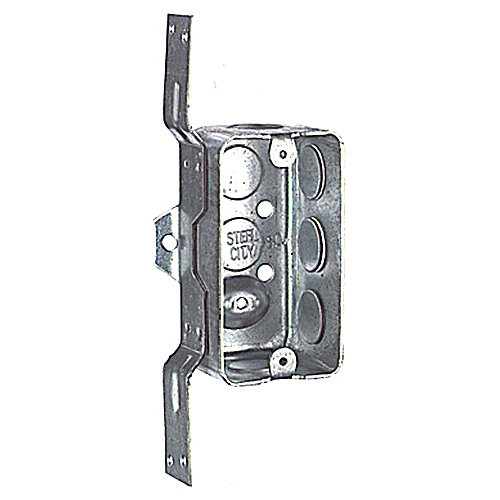 Steel City 58361-V-1/2 4 x 2-1/8 Inch Dimensions 13cu.in Steel Utility Box with 1/2 Inch Knockouts